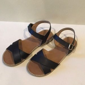 Tucker + Tate Girls Black Sandals